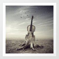 violin Art Prints featuring violin by Andrzej Siejeński