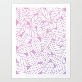 Leaves in Unicorn Art Print