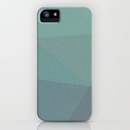 Mosaic abstract shapes blue green shades iPhone Case