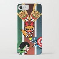 powerpuff girls iPhone & iPod Cases featuring Powerpuff Girls by milanova
