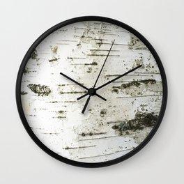 Birch bark pattern Wall Clock