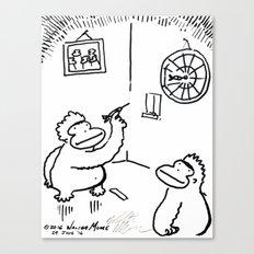 Apes Playing Darts Canvas Print