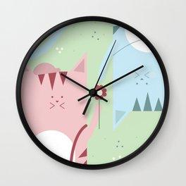 Traveling Tabbies: Flower Power Wall Clock