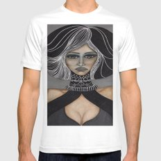 Sorceress White Mens Fitted Tee MEDIUM