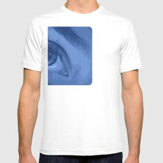 Eye See You White Mens Fitted Tee SMALL