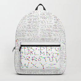 Lettres Arc en Ciel Backpack