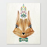 squirrel Canvas Prints featuring squirrel by Manoou