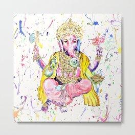 The Elephant God Ganesh, Ganesha Metal Print