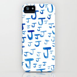 Painted J iPhone Case