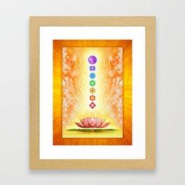 Sacred Lotus - The Seven Chakras .I Framed Art Print