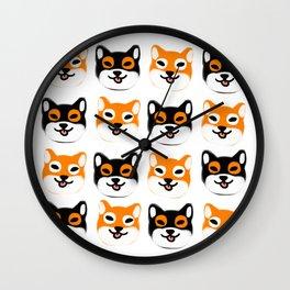 Shibes Wall Clock
