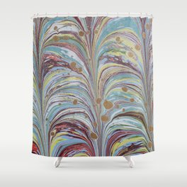 Marbled Multicolor Fountain Shower Curtain