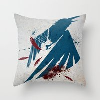 infamous Throw Pillows featuring inFamous Second Son Good Karma by Kyrsten Carlson