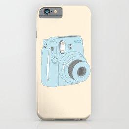Kawaii Instax Camera Blue iPhone Case