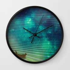 The Space Fisherman Wall Clock
