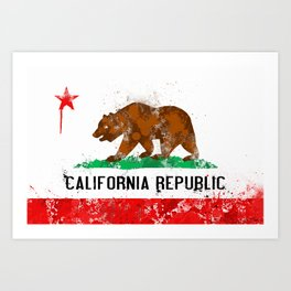 California Flag Art Print