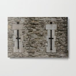 Arroslit in Outer Wall Tower of London England Metal Print
