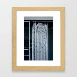 Lace Curtain Framed Art Print