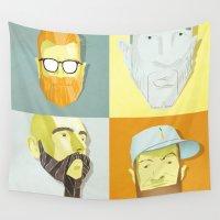 beard Wall Tapestries featuring Beard by Beard by Moats