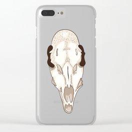 Skull of roe deer Clear iPhone Case
