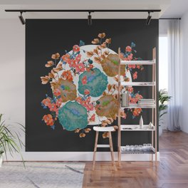 Floral Stamp Wall Mural