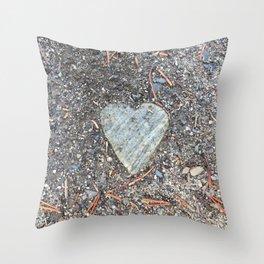Wild Rock Heart Throw Pillow