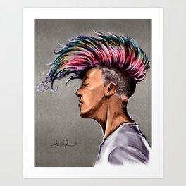 RGD Punk Rock Girl Portrait | Nikki the Bee Art Print