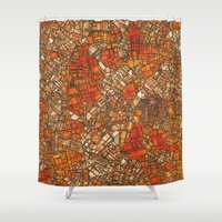 maps Shower Curtains featuring Fantasy City Maps 3 by MehrFarbeimLeben