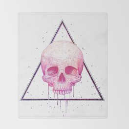 Skull in triangle Throw Blanket