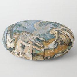 Paul Cezanne - The Large Bathers Floor Pillow