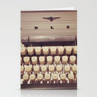 typewriter Stationery Cards featuring typewriter by Bunny Noir