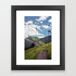 Wax Palms of Cocora Valley on film Framed Art Print