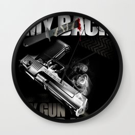 Your knife, my back. My gun, your head. Wall Clock