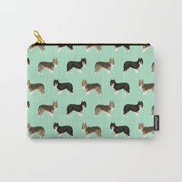 Shetland Sheep Dog pattern custom dog gifts for unique dog breed pet friendly dogs Carry-All Pouch