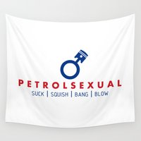mercedes Wall Tapestries featuring PETROLSEXUAL v5 HQvector by Vehicle