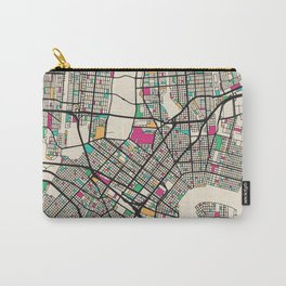 Colorful City Maps: New Orleans, Louisiana Carry-All Pouch