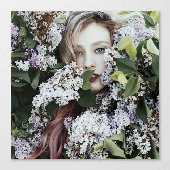 Lilac girl Canvas Print