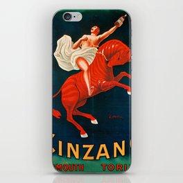 Vintage poster - Cinzano Vermouth Torino iPhone Skin