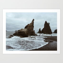 Rialto Beach Sea Stacks Art Print