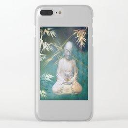 Buddha's awakening from deep meditation Clear iPhone Case