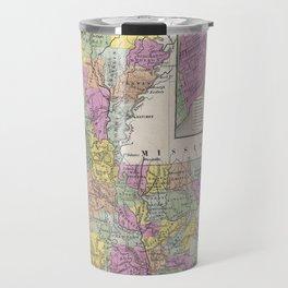 Vintage Map of Louisiana (1853) Travel Mug