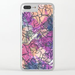 Tapestry Batik Clear iPhone Case