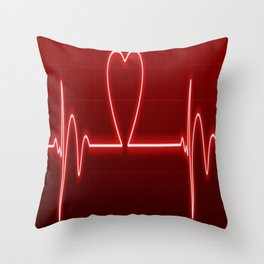 Medical Valentine Throw Pillow