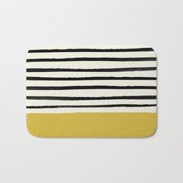 Mustard Yellow & Stripes Bath Mat