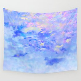 Blue Leaves under a Lavender Sky Wall Tapestry
