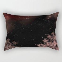 Night Stars Landscape Rectangular Pillow