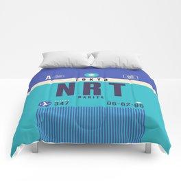 Retro Airline Luggage Tag - NRT Tokyo Narita Comforters