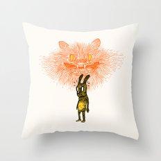 Scared Stiff Throw Pillow