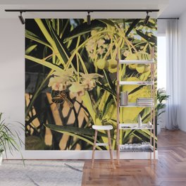 Pufferfish Milkweed & Bee Fresco Wall Mural
