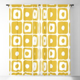 Mid Century Square Dot Pattern Mustard Yellow Blackout Curtain
